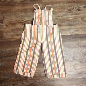 Vintage fall striped baby girls jumpsuit